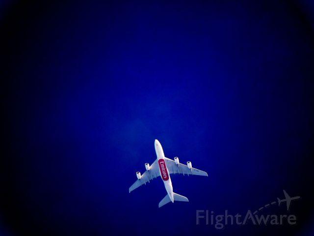 Airbus A380-800 (A6-EDD) - Emirates flight 414 to Sydney passes over Colombo , Sri Lanka.