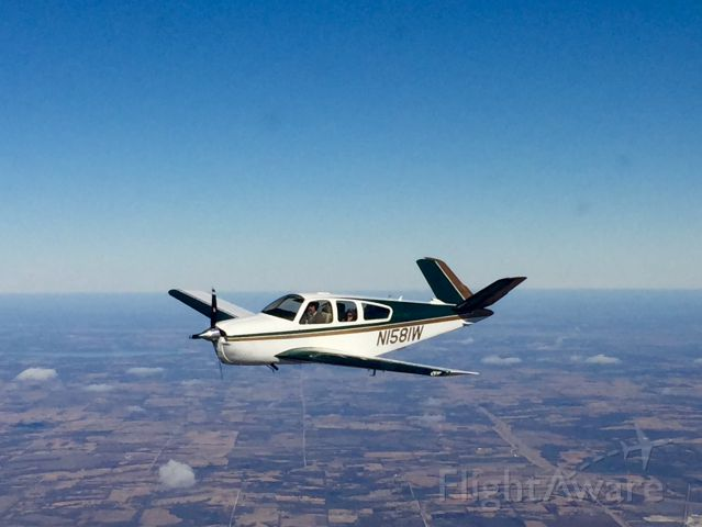 Beechcraft 35 Bonanza (N1581W) - Over southern KS..Enroute to Beaumont, KS for a Saturday lunch.