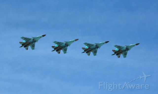 Sukhoi Su-27 Flanker — - Flypast on Victory Day celebration, May 9, 2018, Moscow - Su-34 (NATO reporting name Fullback)