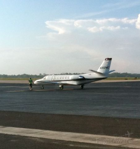 Cessna Citation V (N302WC) - Arrived from Austin in the AM.