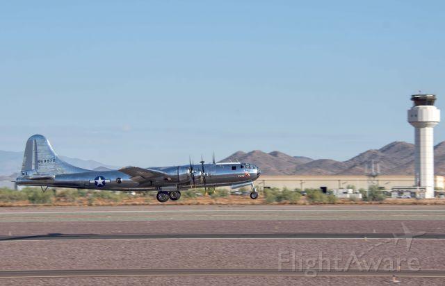 "Boeing B-29 Superfortress (N69972) - Boeing B-29 ""Doc"" on takeoff at Phoenix Deer Valley Airport on 9/18/19"