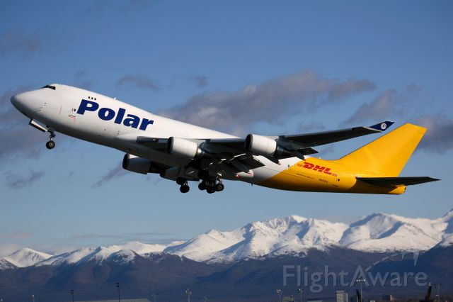 Boeing 747-400 (N451PA) - Polar 998 LA bound and flying the colors for DHL