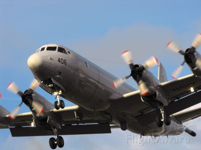 Lockheed P-3 Orion (16-1406) - USN P-3C on short final for RWY27