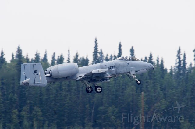 Fairchild-Republic Thunderbolt 2 — - An A-10 Thunderbolt II assigned to 122nd Fighter Wing, 163rd Fighter Squadron, Fort Wayne, Ind., takes flight during Red Flag-Alaska 13-3, Aug. 12, 2013, Eielson Air Force Base, Alaska. Typically, RF-A conducts two combat scenarios each day; the scenarios are shaped to meet each exercise's specific training objectives. (U.S. Air Force photo by Airman 1st Class Lauren-Taylor Levin/Released into Public Domain)
