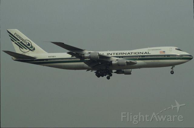 Boeing 747-200 (N470EV) - Final Approach to Narita Intl Airport Rwy16 on 1991/03/05