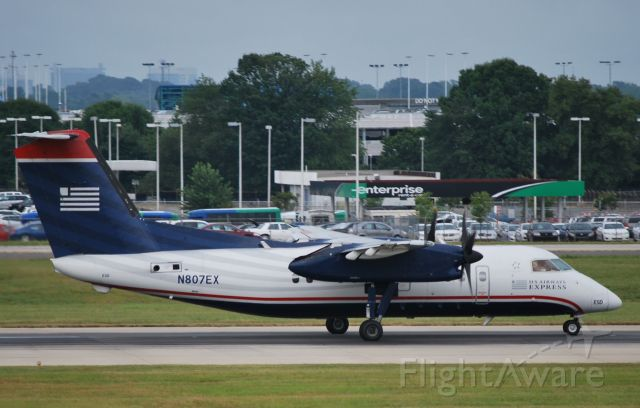 de Havilland Dash 8-100 (N807EX) - Rolling 18C - 7/12/10