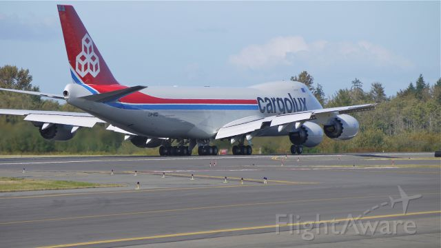 BOEING 747-8 (LX-VCD) - CLX789 - The first B747-8F to be delivered is on it