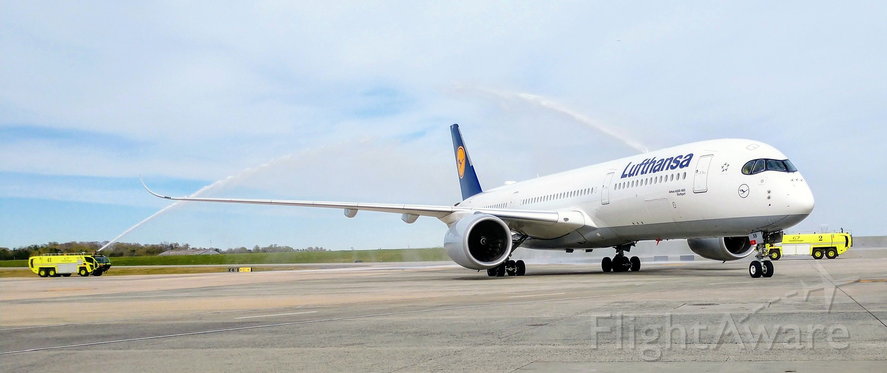 Airbus A350-900 (D-AIXB) - First day for regular A350-900 service by Lufthansa into CLT.<br /><br />3/31/19