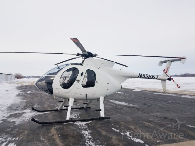 MD Helicopters MD 500 (N5286J) - Whiteside County Airport 11 February 21<br />A frequent visitor to our airport, used by ComEd.<br />Gary C Orlando Photo