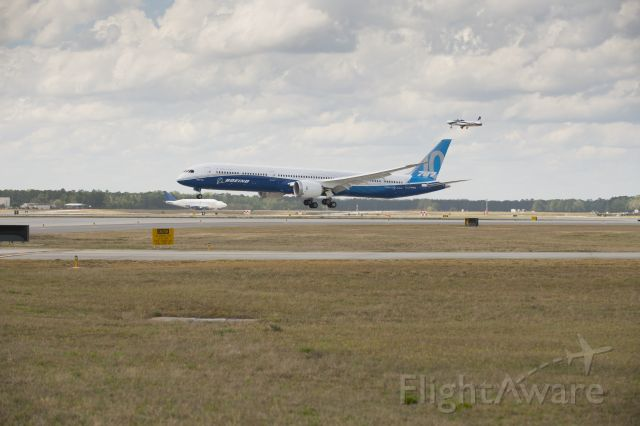 N528ZC — - Boeing 787-10 first flight.  Photo courtesy Boeing Commercial Airplanes.