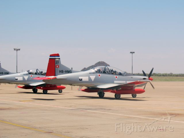Pilatus PC-7 Astra (HB-HMG) - Just arrived from a ferry flight from Switzerland at Gaborone, Botswana.
