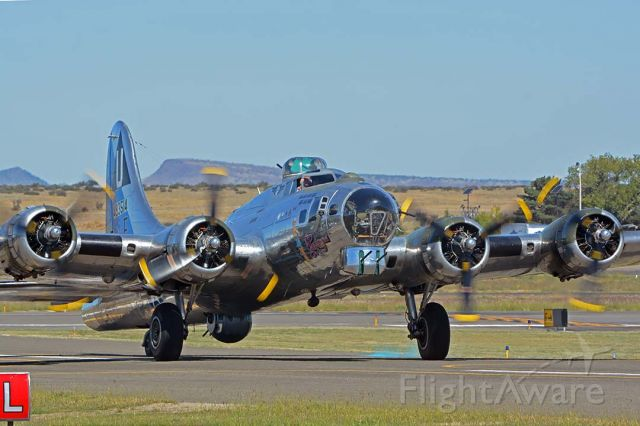 Boeing B-17 Flying Fortress (N9323Z) - Commemorative Air Force Boeing B-17G Flying Fortress N9323Z Sentimental Journey at the Wings Out West Airshow at Prescott, Arizona on October 5, 2019.