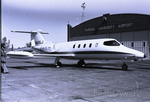 N695LJ — - Bill Lears personal Learjet 25 on a visit to Purdue University, circa 1975.