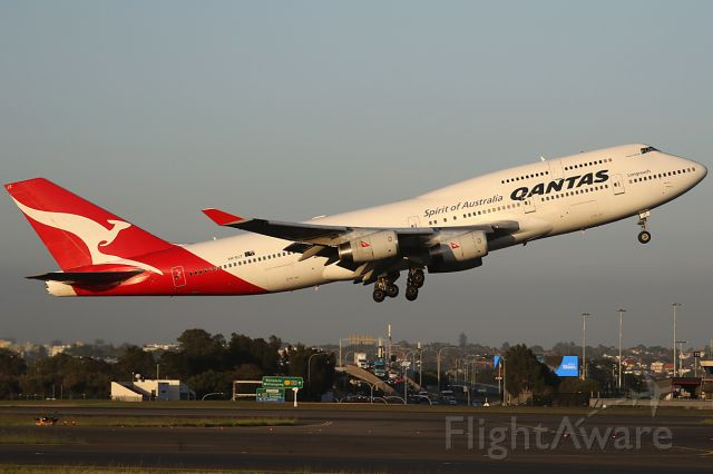 Boeing 747-400 (VH-OJT) - on 1 December 2017