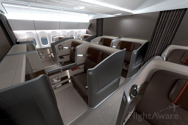 — — - Singapore Airlines new First and Business Class
