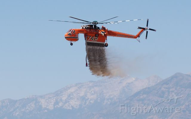 Sikorsky CH-54 Tarhe (N94AC) - 2012 Fire season on the Wasatch Mt.