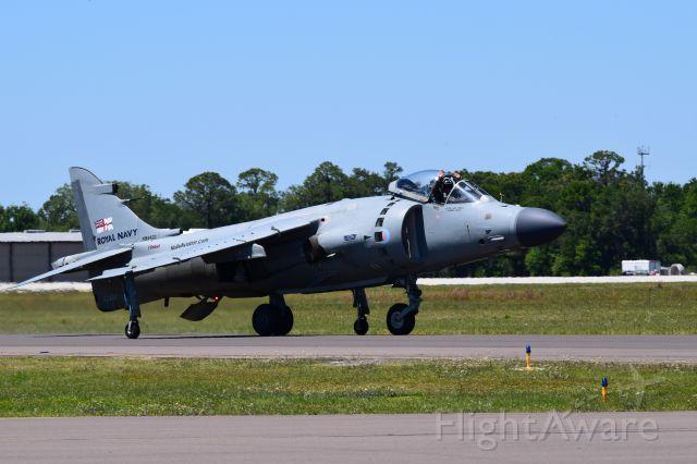 Boeing Harrier (N94422) - Hawker-Siddeley C/N XZ439 TAV-8 Sea Harrier taxiing for the Audience as seen At Sun n Fun Lakeland, Florida 8APR17
