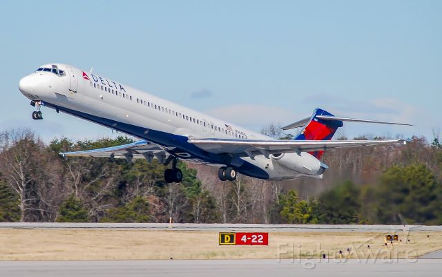 McDonnell Douglas MD-88 (N984DL) - One of my best pictures of the MD-88.  N984DL rockets off the runway.  A sight and sound that will be sorely missed.  As of this upload the fleet is down to less than 30 airplanes.  Best plane to ever fly in my opinion!