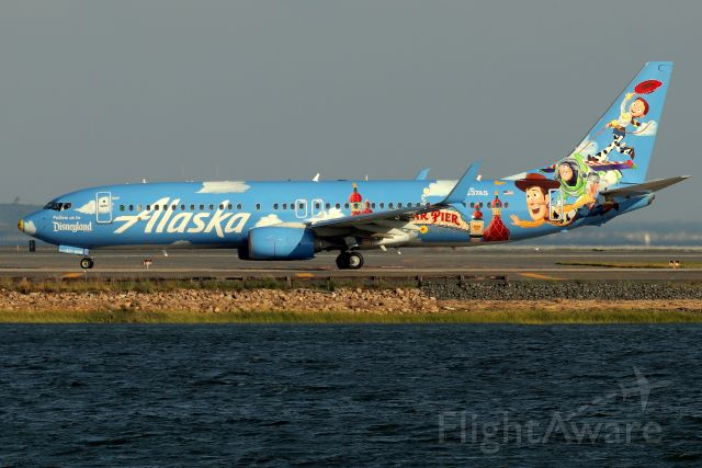 Boeing 737-800 (N537AS) - Alaska's 'Disneyland Pixar Pier' special livery heading to San Diego
