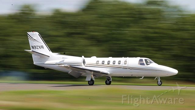 Cessna Citation II (N92VR) - Just after setting down on runway 20