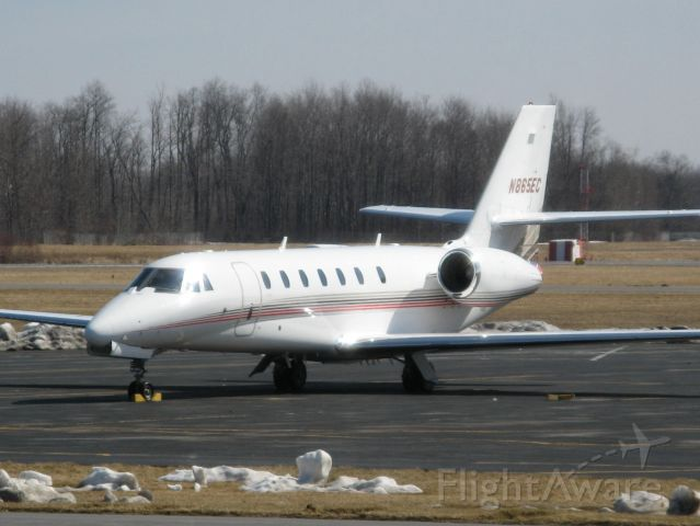 N865EC — - Cessna 680 Citation Soverign at Fulton, NY on 3/16/09. Note snow remnants from past winter