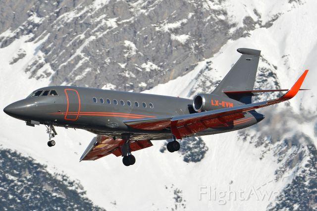 Dassault Falcon 2000 (LX-EVM)