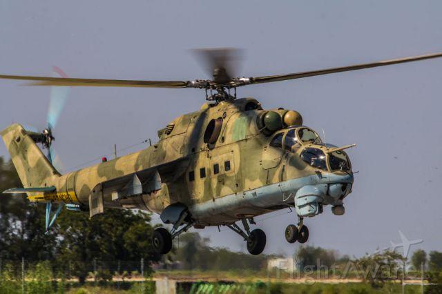 MIL Mi-25 — - Hind landing
