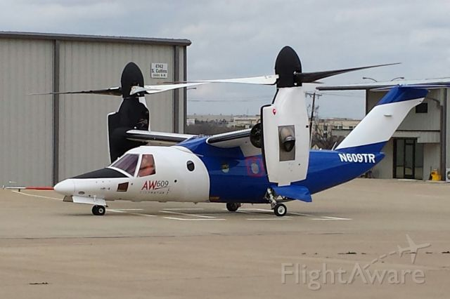 N609TR — - AW609 N609TR in preparation for the HeliExpo 2015 Orlando FL.