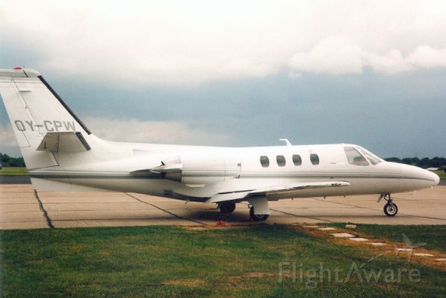 Cessna Citation 1SP (OY-CPW) - Seen here in May-95.br /br /Reregistered N71LP 21-Oct-99.