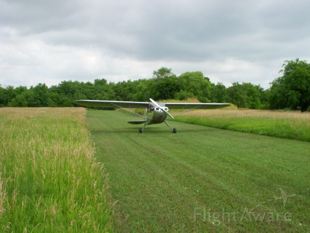 Cessna 120 — - July 4 just before hay cutting