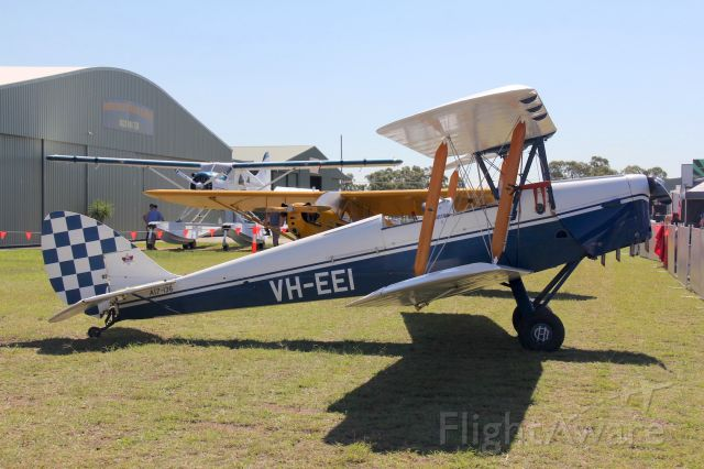 OGMA Tiger Moth (VH-EEI) - de Havilland DH-82A Tiger Moth<br />Manufactured in 1940, UK<br />Photo: 06.04.2019