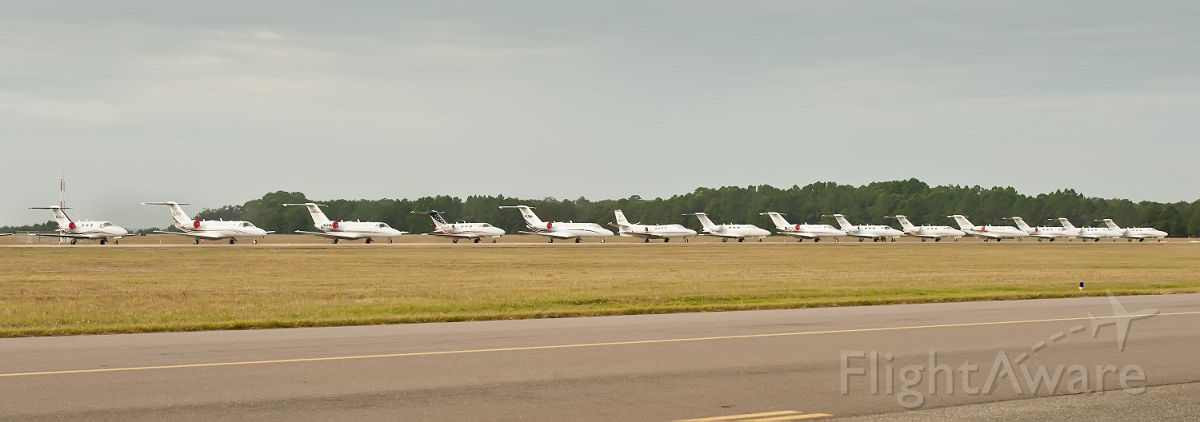 Cessna Citation CJ1 — - Line of Citations at Citation Jet Pilots annual meeting in Amelia Island, Florida