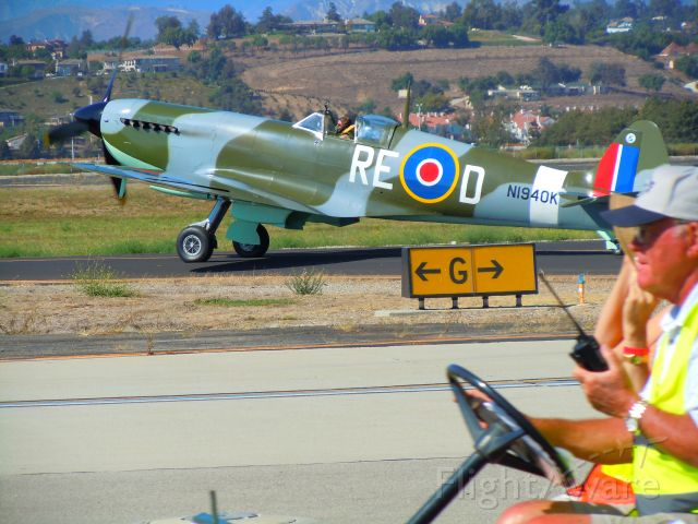 SUPERMARINE Spitfire (N1940K) - Spitfire at Camarillo airshow 8/21/10 (This one manufactured locally from the ground up - not a rebuilt)