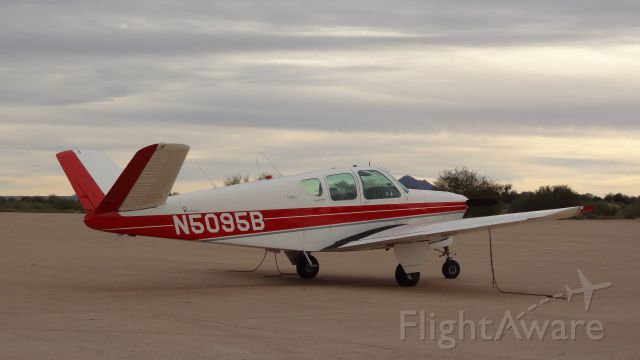 Beechcraft 35 Bonanza (N5095B) - Driving around Ajo, Arizona and saw this V-Tail Bonanza.