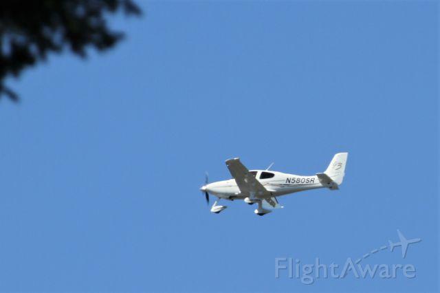 Cirrus SR-22 (N580SR) - Over Mercer Island, WA
