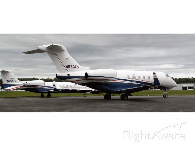 Bombardier Challenger 300 (N530FX) - A Lear 45 and a CL30 of Fexjet.