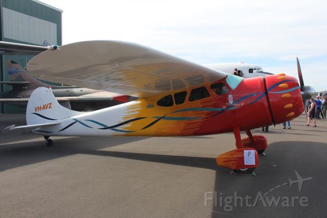 Cessna LC-126 (VH-AVZ) - Cessna 195.<br />Photo: 06.05.2017