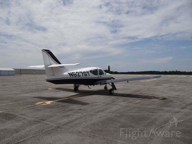 Rockwell Commander 114 (N527GT) - On the tarmac at Walterboro SC - Lowcountry Regional Airport