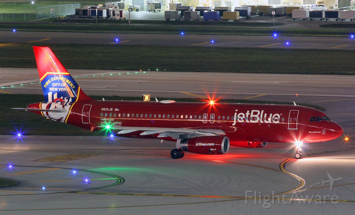 Airbus A320 (N615JB) - Well deserved tribute to the NYFD. It would be great if Jet Blue creates a tribute jet for the NYPD and another for our armed forces veterans.