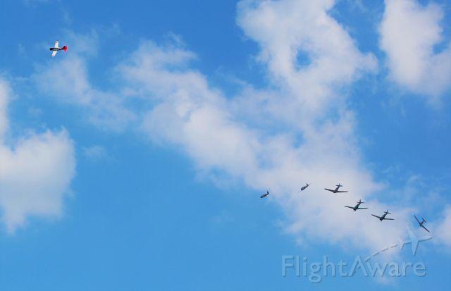 — — - Breaking formation.