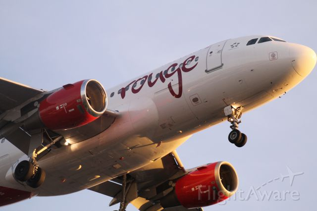 Airbus A319 (C-GBIM) - Air Canada Rouge on Final, Runway 24L  at KLAX