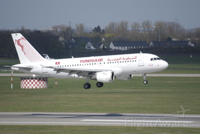 Airbus A319 (TS-IMK) - April 13, 2013 . WFU at Tunis in January 2017