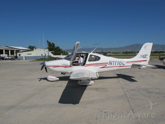 Cirrus SR-22 (N1116C) - On the general aviation ramp in Port au Prince, Haiti after a week treating cholera patients.