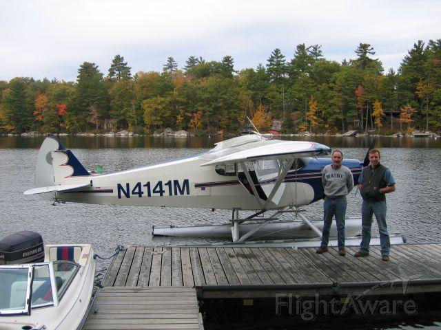 Piper PA-12 Super Cruiser (N4141M) - Sebago Lake, Maine.