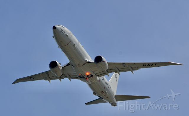 Boeing P-8 Poseidon — - Making a fly-by before heading home.