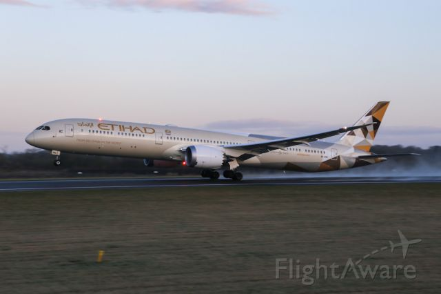 BOEING 787-10 Dreamliner (A6-BMG) - EY16 rotates on the way back to AUH
