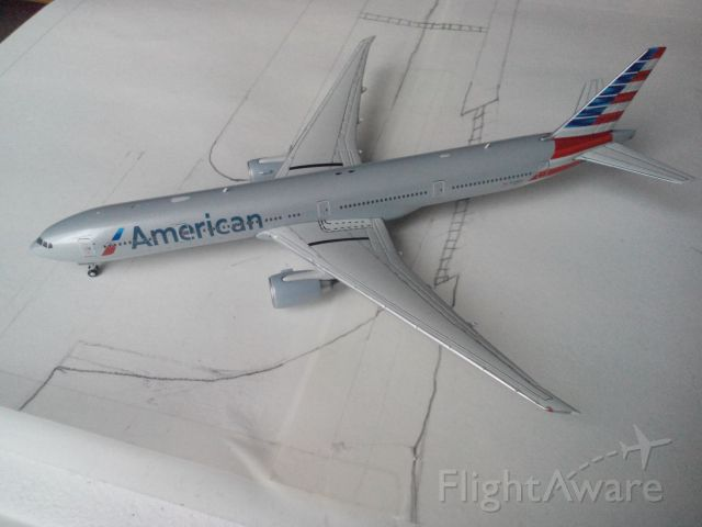 BOEING 777-300 (N719AN) - My American 777-300ER model. This flight is taxiing onto the runway to takeoff for London Heathrow. Like my other model pics, my airport is modeling LAX.