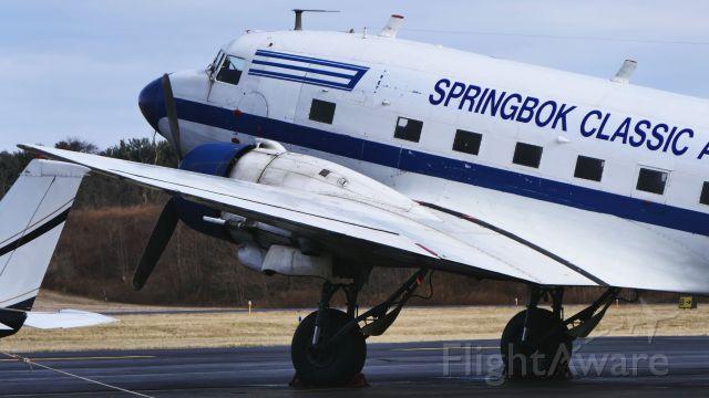 Douglas DC-3 (ZS-CAI) - New Reg: N353MM