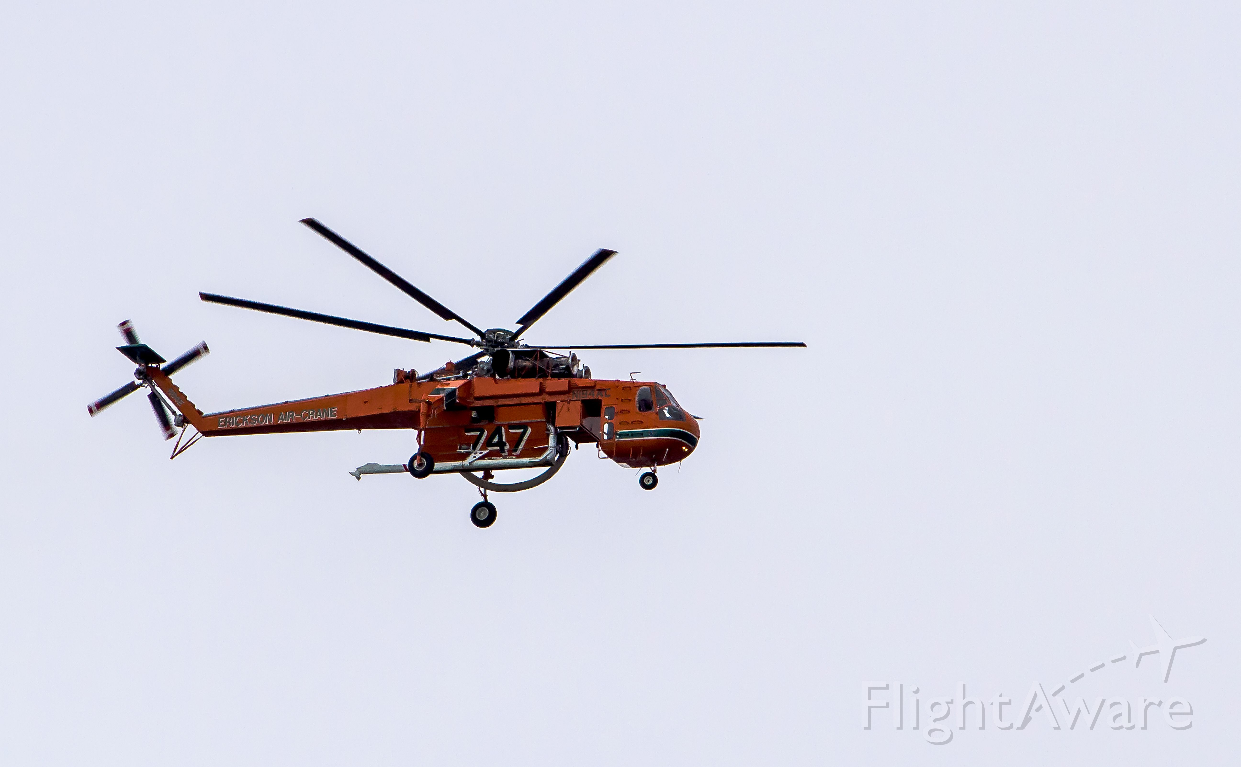Sikorsky CH-54 Tarhe (N194AC) - Sikorsky S-64 Skycrane northbound along the LA River west of Long Beach Airport on the morning of 4-24-2015.  Owned by Erickson Incorporated, this Fire Fighting Helicopter is probably under contract with a government agency for the upcoming 2015 fire season. An unusual and beautiful sight.  I could hear it coming for 5 minutes!