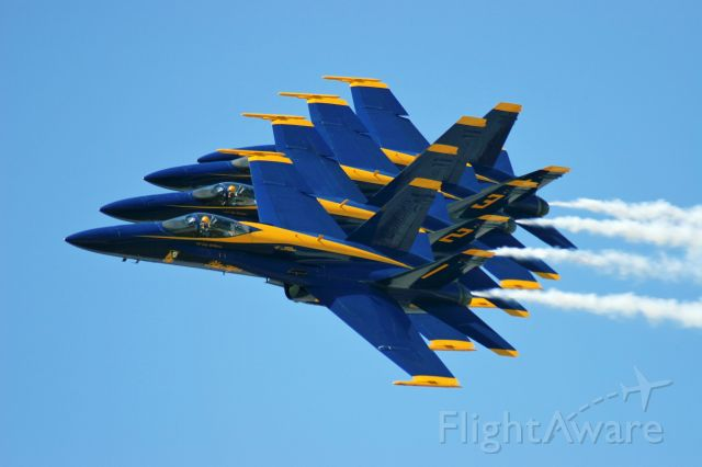 McDonnell Douglas FA-18 Hornet — - Blue Angels at Southern Wisconsin Airfest Janesville USA May 2009